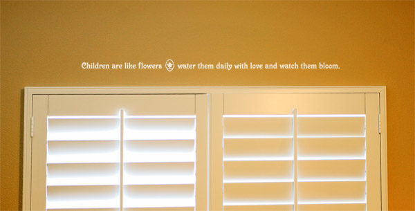 Children are like flowers, water them daily with love Wall Decal
