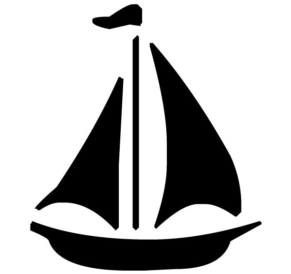 Sailboat Lettering Art 5 6 Wall Decal