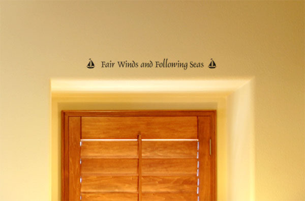 Fair Winds and Following Seas Wall Decal