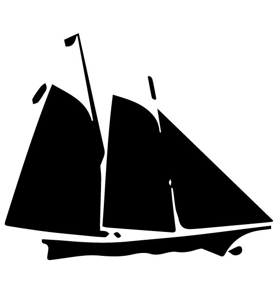 Sailboat Lettering Art 5 G Wall Decal