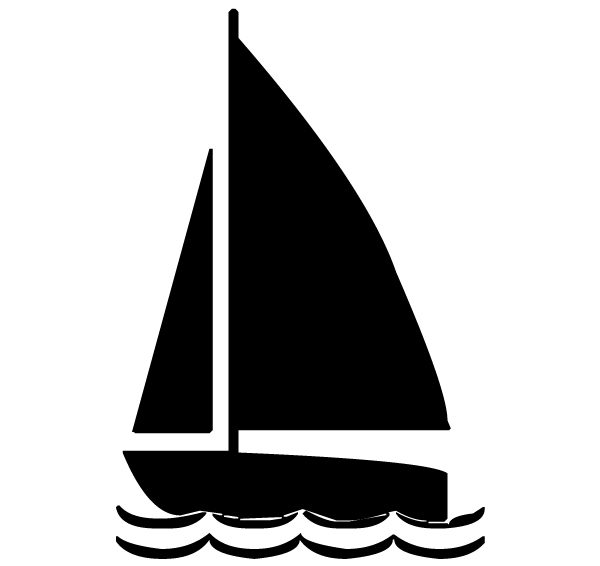 Sailboat Lettering Art 5 a Wall Decal