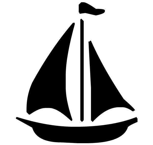 Sailboat Lettering Art 5 e Wall Decal