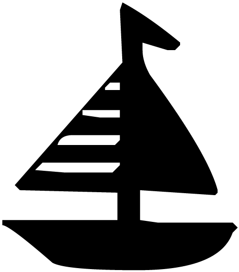Sailboat Lettering Art 5 f Wall Decal