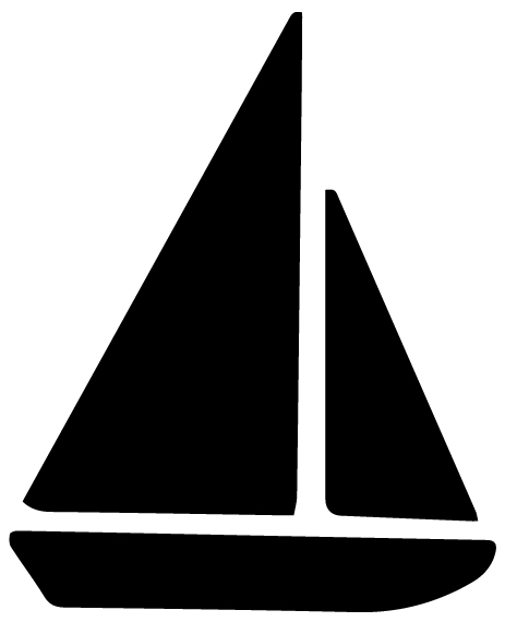 Sailboat Lettering Art 5 h Wall Decal