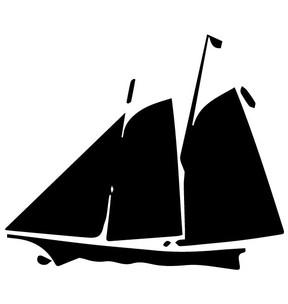 Sailboat Lettering Art 5 n Wall Decal