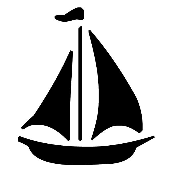 Sailboat Silhouette 1A LAK 1-A Nautical Wall Decal