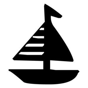 Sailboat Silhouette 2B LAK 1-N Nautical Wall Decal