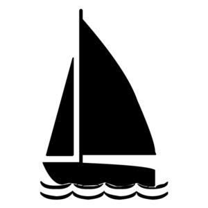 Sailboat Silhouette 3B LAK 1-P Nautical Wall Decal