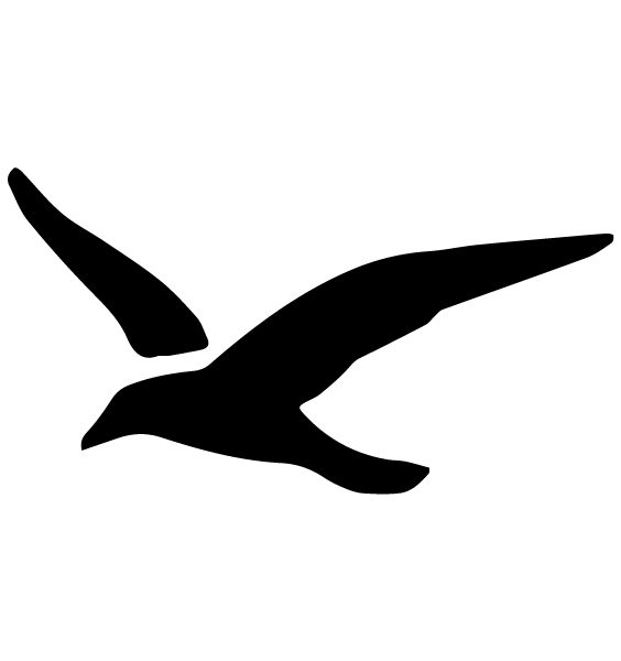 Seagull Lettering Art 5 E Wall Decal