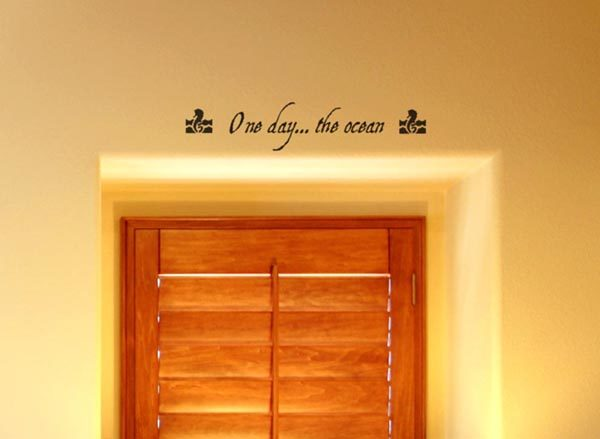 One day the Ocean Wall Decal