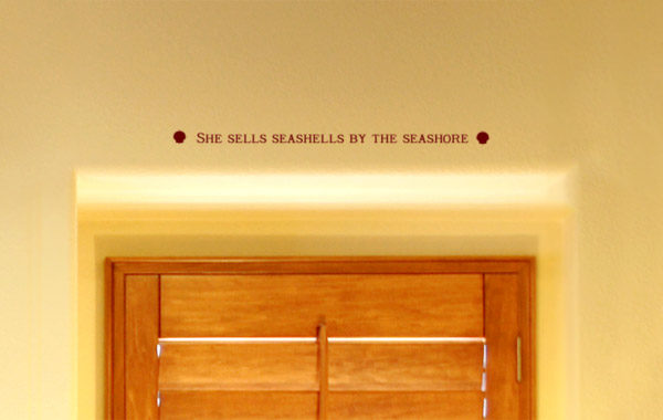 She sells seashells by the seashore Wall Decal