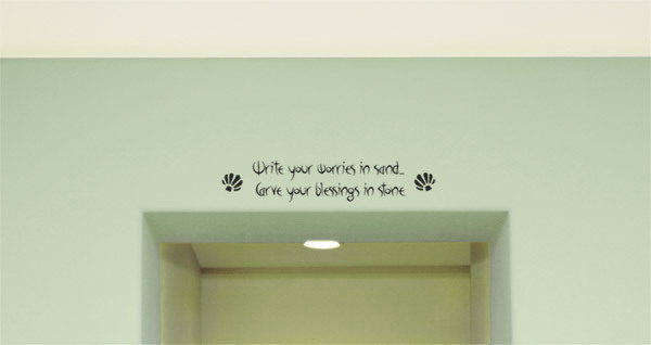 Write your worries in sand Carve Wall Decal