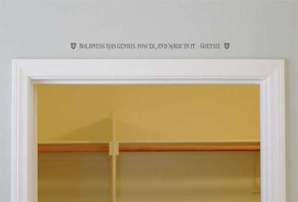 Boldness has genius, power and magic in it. - Goethe Wall Decal
