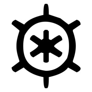 Ship Steering Wheel LAK 1-K Nautical Wall Decal
