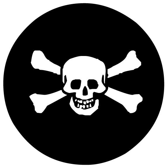 Skull and Cross Bones LAK 27-0 Pirates Wall Decal