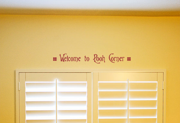 Welcome to Pooh Corner Wall Decal