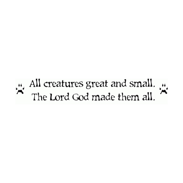 All creatures great Wall Decal