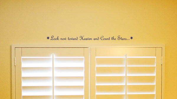 Look now toward Heaven and Count the Stars Wall Decal