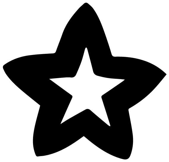 Star Theme Motif Lettering Art 6-8 Wall Decal