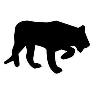 Tiger Silhouette A LAK 15-0 Jungle Wall Decal