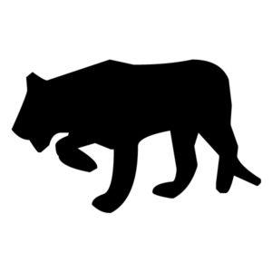 Tiger Silhouette B LAK 15-1 Jungle Nautical Wall Decal