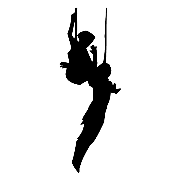 Trapeze Silhouette 1A LAK 17-0 Circus Wall Decal