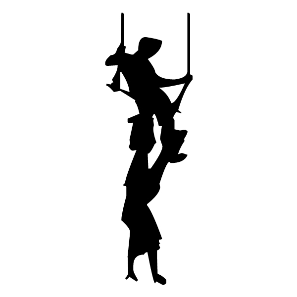 Trapeze Silhouette 2A LAK 17-8 Circus Wall Decal