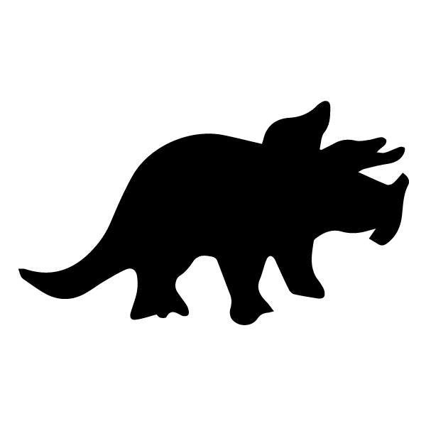 Triceratops Silhouette A LAK 26-A Dinosaur Wall Decal