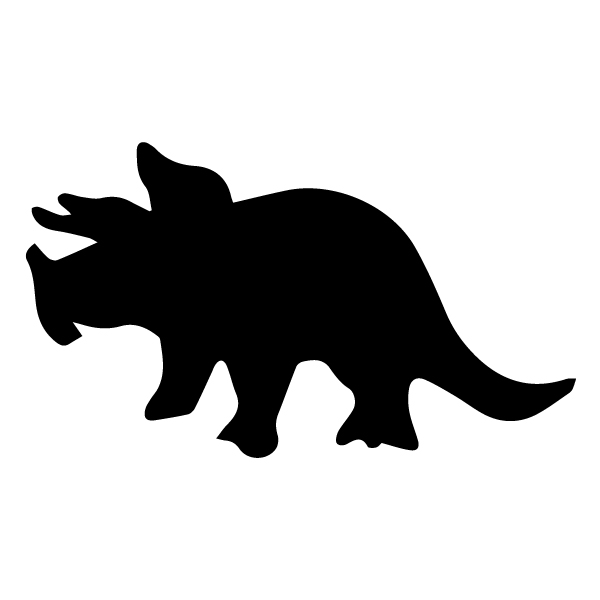 Triceratops Silhouette B LAK 26-B Dinosaur Wall Decal