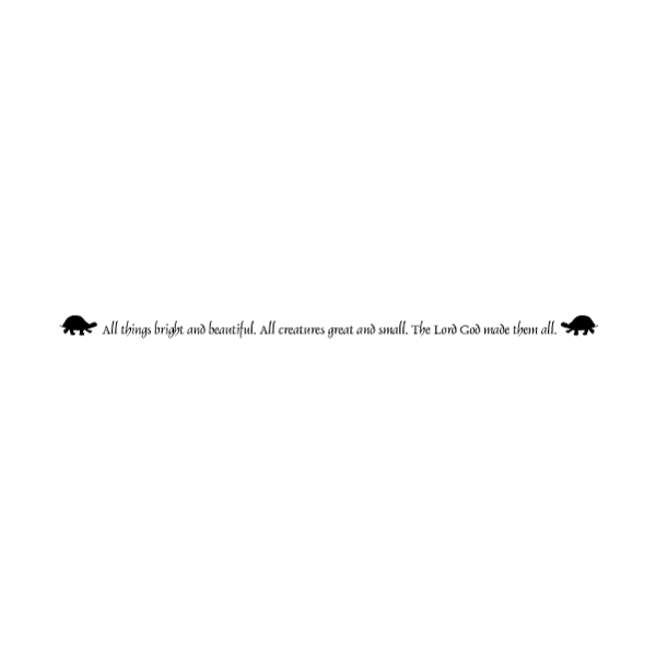 All things bright Wall Decal