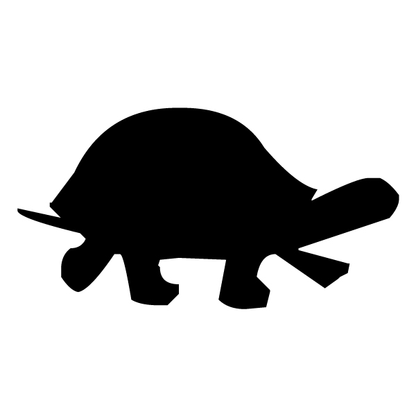 Turtle Silhouette A LAK 14 4 Animal Wall Decal