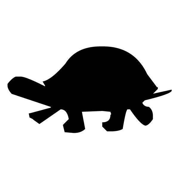 Turtle Silhouette B LAK 14 5 Animal Wall Decal