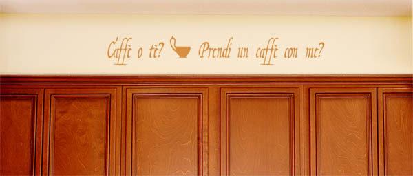 Caffè o tè Prendi un caffè con me Wall Decal