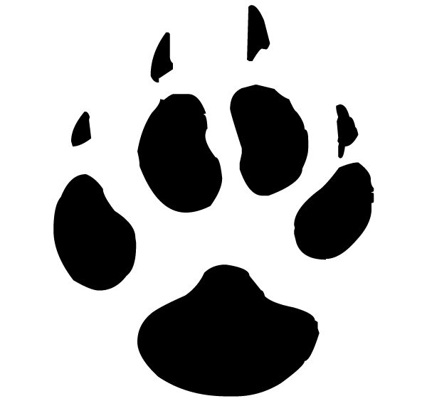 Wolf Pawprint Lettering Art 15 6 Wall Decal