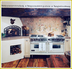 enhance your kitchen with warm words of inspiration