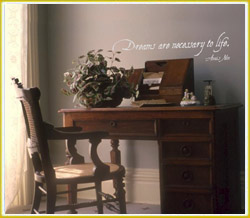 dreams are necessary to life wal decal