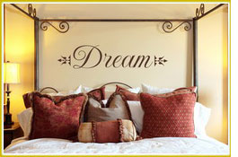 Decorate a themed bedroom with correlating quotations
