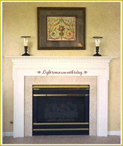enhance your fireplace with warm words of inspiration