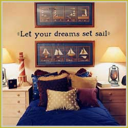 Decorate a room by theme with correlating quotations