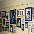 Because every picture has a story to tell, an inspirational wall decal on the family hall with pictures of the family, its bonding and achievements.