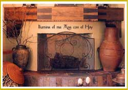 Spanish-Mexican Fireplace