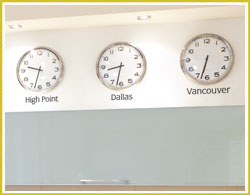 Time Zones with clocks