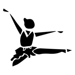 Abstract Ballerina A LAK 2 3 D Sports Wall Decal
