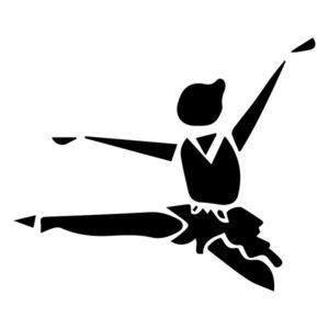 Abstract Ballerina B LAK 2 3 E Sports Wall Decal