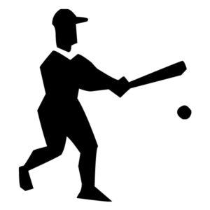Abstract Baseball Player A LAK 2 2 o Sports Wall Decal