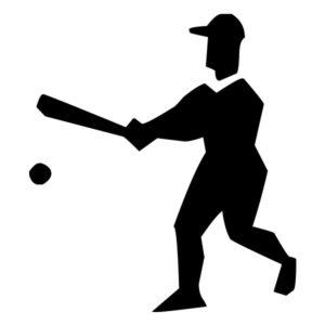 Abstract Baseball Player B LAK 2 2 p Sports Wall Decal