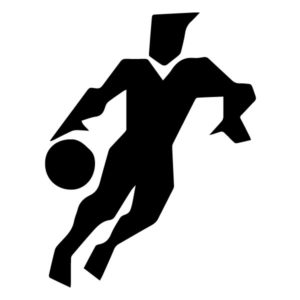 Abstract Basketball Player A LAK 2 2 Y Sports Wall Decal