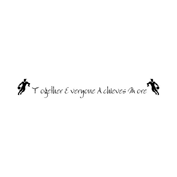 Together Everyone Achieves Wall Decal