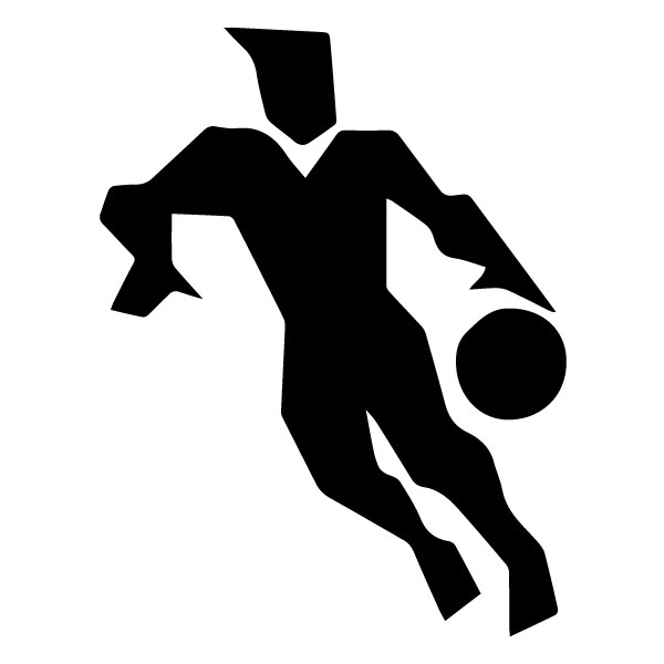 Abstract Basketball Player B LAK 2 2 Z Sports Wall Decal