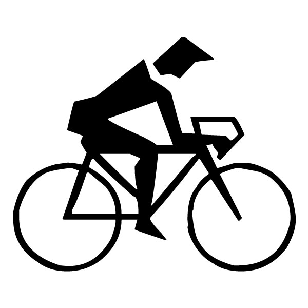 Abstract Bicyclist A LAK 2 2 s Sports Wall Decal
